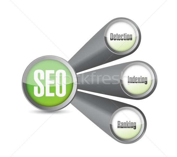 Seo link diagram illustration design Stock photo © alexmillos