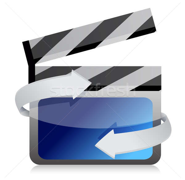 Stock photo: Film clap board cinema on the move