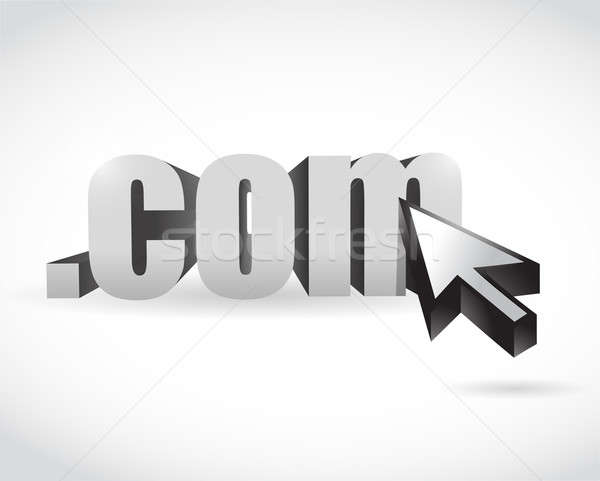 Com domain and cursor illustration design Stock photo © alexmillos