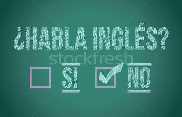 Konuşmak İngilizce İspanyolca çocuk öğrenci çerçeve Stok fotoğraf © alexmillos