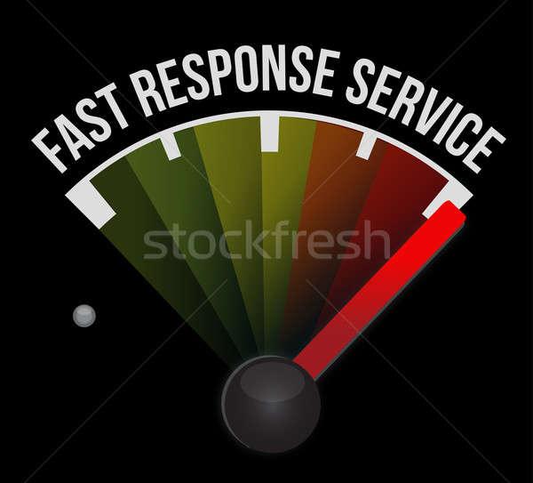 Snel antwoord dienst snelheidsmeter auto technologie Stockfoto © alexmillos