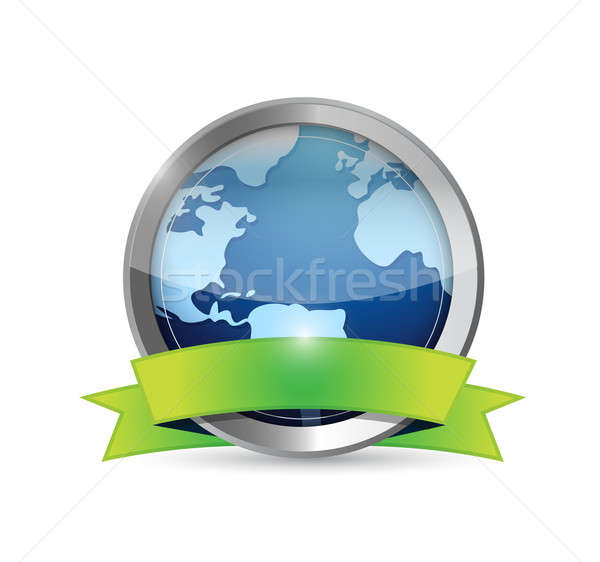 Earth And Environment Banner illustration design over white Stock photo © alexmillos