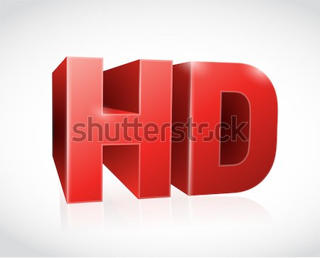 3d hd text illustration design  Stock photo © alexmillos