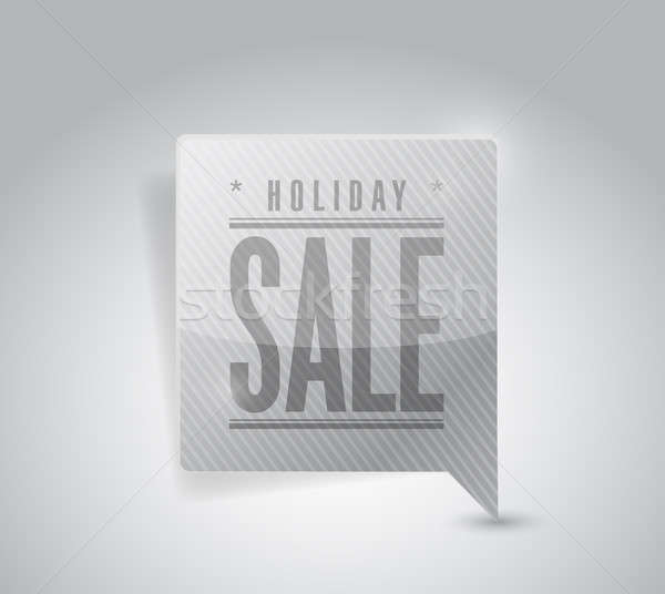 Holiday sale pin pointer sign illustration Stock photo © alexmillos