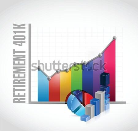 computer lap business graphs concept illustration Stock photo © alexmillos