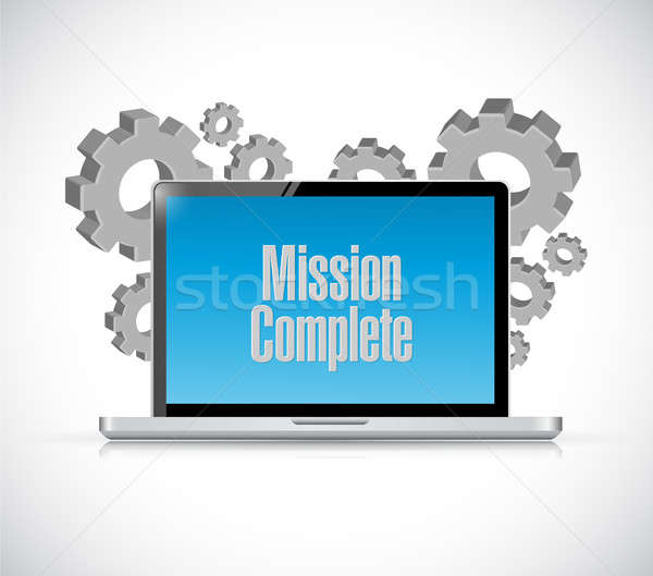 mission complete computer sign concept Stock photo © alexmillos