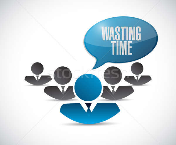 Wasting time people sign concept illustration Stock photo © alexmillos