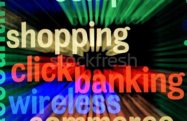 Hat bankacılık alışveriş bilgisayar para güvenlik Stok fotoğraf © alexskopje