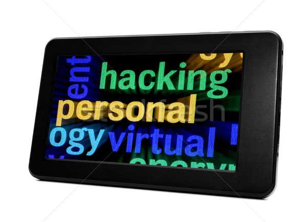 Piratage téléphone internet réseau Voyage mobiles Photo stock © alexskopje