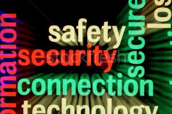 Güvenlik güvenlik bağlantı bilgisayar dizayn cam Stok fotoğraf © alexskopje