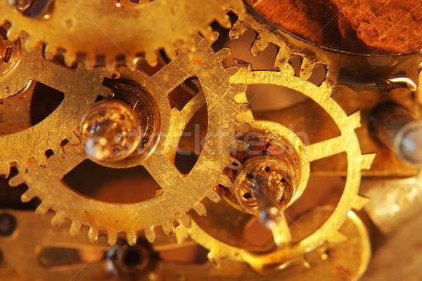 Eski mekanik dişliler inşaat dizayn arka plan Stok fotoğraf © alexskopje