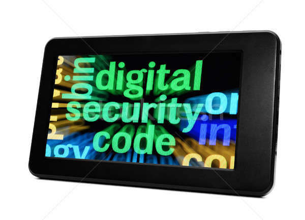 Dijital güvenlik kod bilgisayar dizayn cam Stok fotoğraf © alexskopje