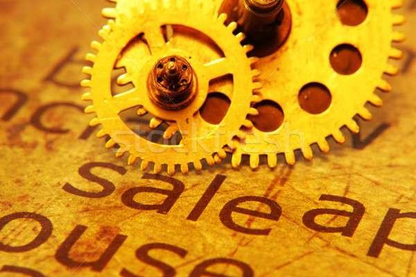 Sale and gears concept Stock photo © alexskopje