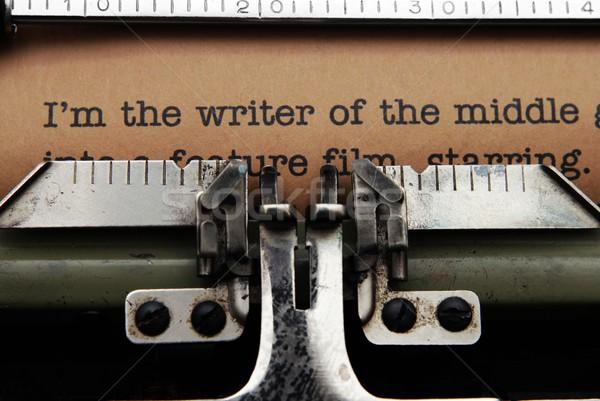 письме издатель клавиатура печать принтер прессы Сток-фото © alexskopje