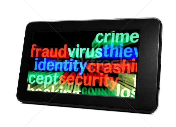 Bedrog virus identiteit computer telefoon web Stockfoto © alexskopje