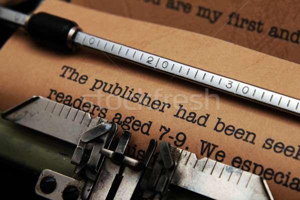 Publisher letter Stock photo © alexskopje