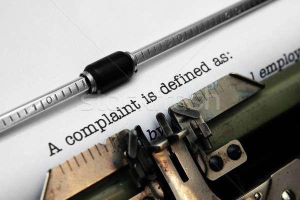 Complaint form Stock photo © alexskopje