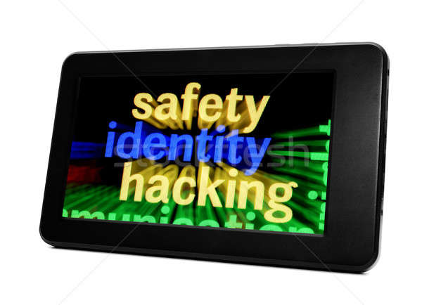 Seguridad identidad piratería negocios ordenador Internet Foto stock © alexskopje