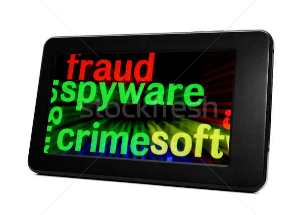 Spyware computador rede trancar informação dados Foto stock © alexskopje