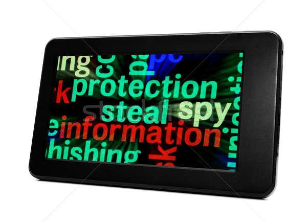 информации защиту компьютер интернет технологий экране Сток-фото © alexskopje