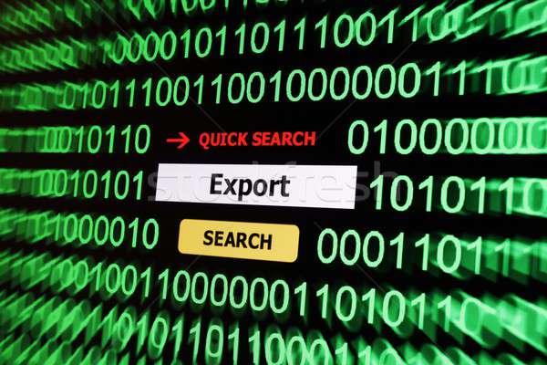 Search for export Stock photo © alexskopje