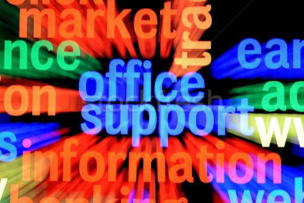 Ofis destek bilgi adam yardım hizmet Stok fotoğraf © alexskopje