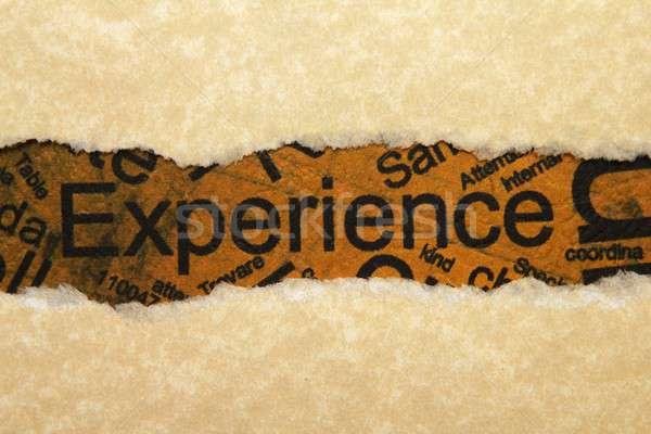 Experience torn paper Stock photo © alexskopje