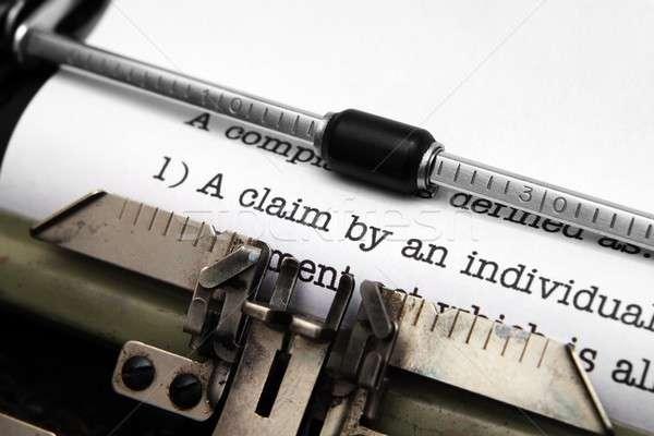 Claim form on typewriter Stock photo © alexskopje