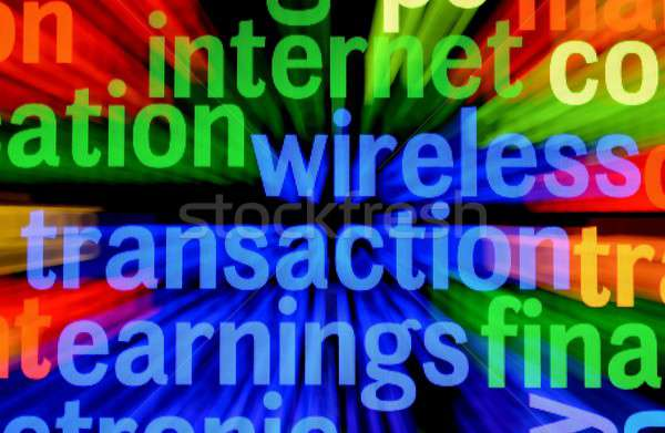 Wireless transaction earnings Stock photo © alexskopje