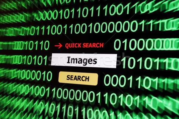 Arama el Internet teknoloji ekran Stok fotoğraf © alexskopje