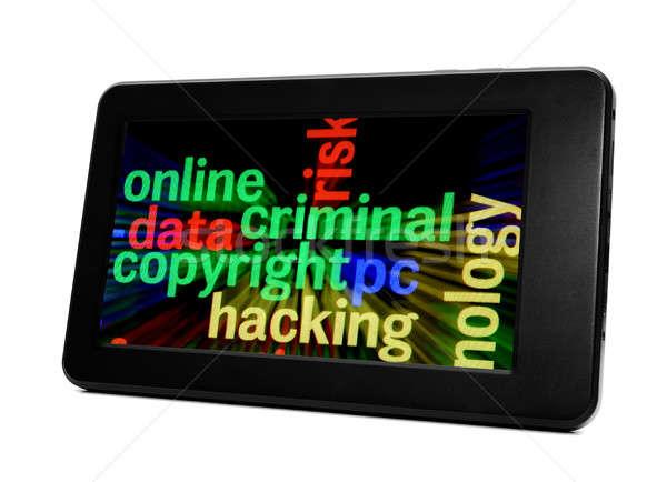 Online criminal concept Stock photo © alexskopje