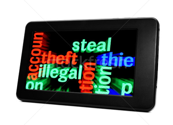 Steal illegal theft Stock photo © alexskopje