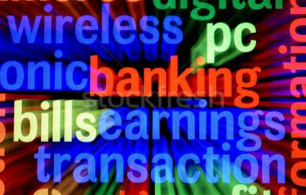 Bankacılık kazanç işlem iş teknoloji telefon Stok fotoğraf © alexskopje
