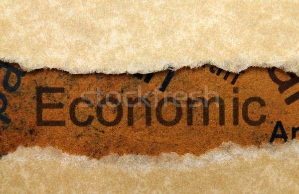 Economía dinero fondo signo financiar mercado Foto stock © alexskopje