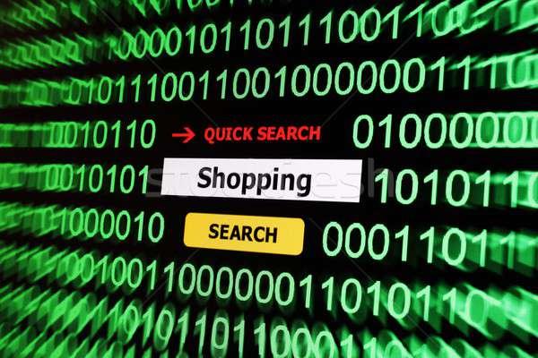 Search for shopping Stock photo © alexskopje