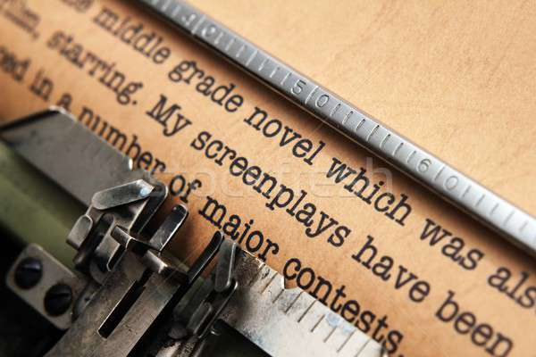 Screenplay and typewriter Stock photo © alexskopje