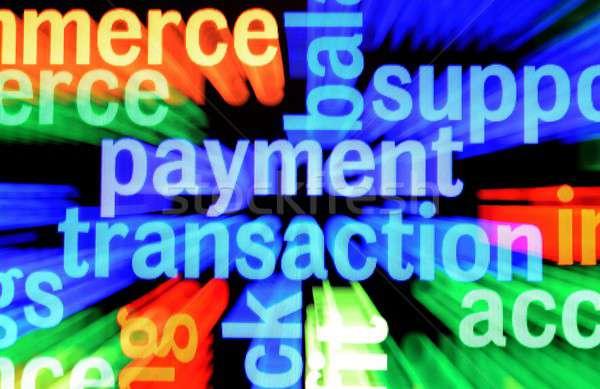 Fizetés tranzakció pénz papír ceruza siker Stock fotó © alexskopje