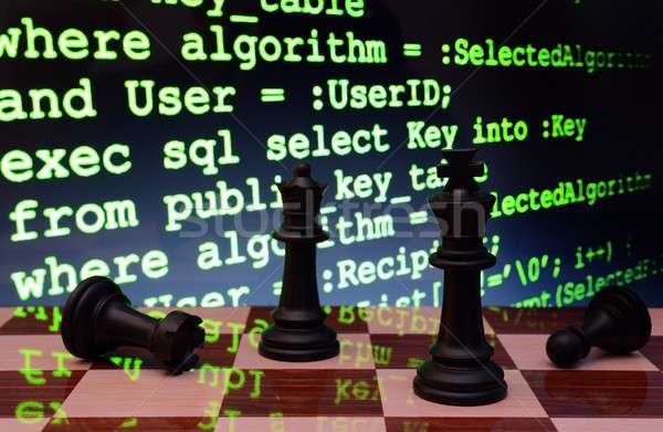 Chess and programming concept Stock photo © alexskopje
