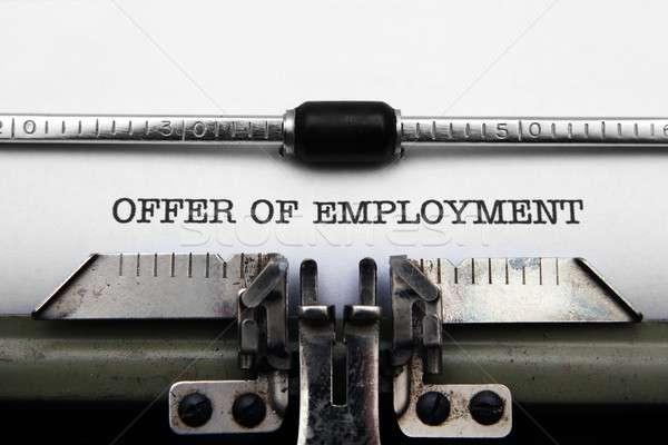 Offer of employment Stock photo © alexskopje
