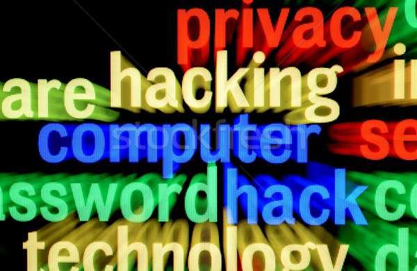 Ordenador piratería carta digital información datos Foto stock © alexskopje
