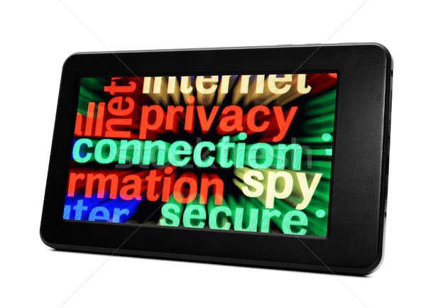 Privacy connessione word cloud tecnologia web mail Foto d'archivio © alexskopje