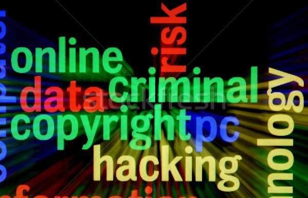 Criminelle droit d'auteur piratage technologie clavier fond Photo stock © alexskopje