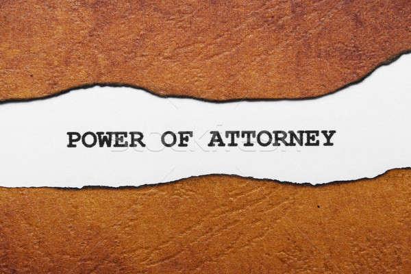 Moc prawnik biuro list biurko umowy Zdjęcia stock © alexskopje