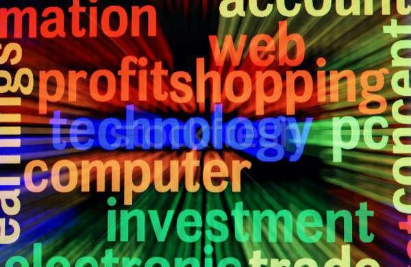 Winst winkelen business geld dienst ondersteuning Stockfoto © alexskopje