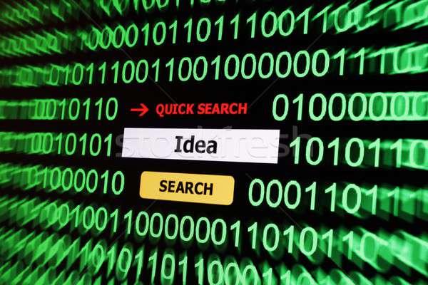 Search for idea Stock photo © alexskopje
