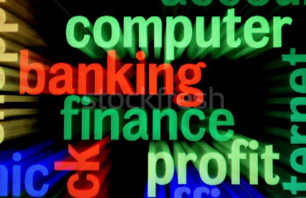 компьютер Финансы прибыль бизнеса технологий телефон Сток-фото © alexskopje