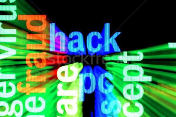 Hacke Computer Internet Technologie Hintergrund Sicherheit Stock foto © alexskopje