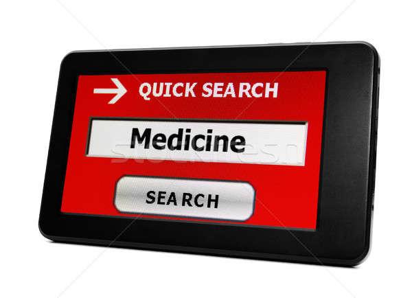 Web arama tıp Internet teknoloji hapları Stok fotoğraf © alexskopje