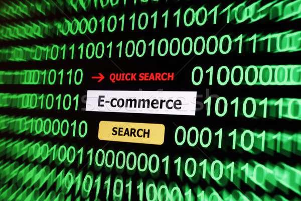 Eコマース コンピュータ インターネット ビジネスマン モニター ウェブ ストックフォト © alexskopje