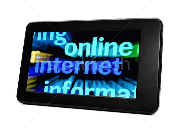 Tablet iş doku Internet arka plan hareketli Stok fotoğraf © alexskopje